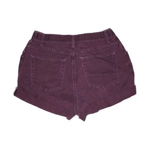 Wrangler Shorts - Vintage Burgundy High Waisted Cuffed Shorts 28